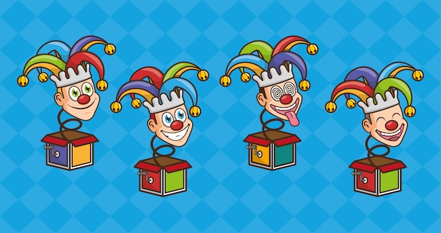 April fools day toy jesters