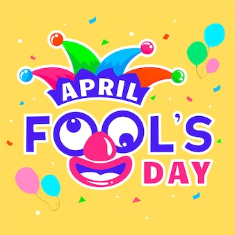 April fools day with balloons
