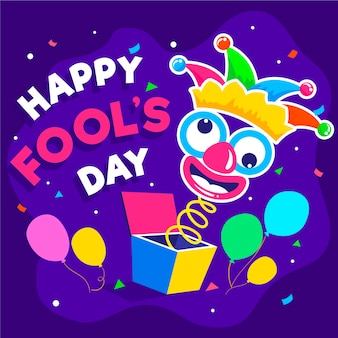 April fools day with clown