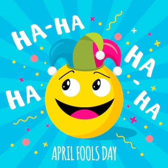 April fools day with emoji