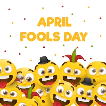 April fools day with emojis