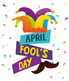 April fools day with hat buffoon