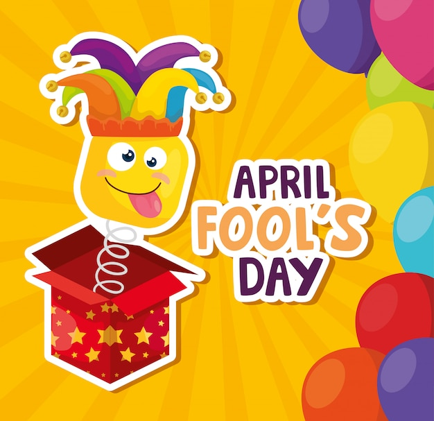 April fools day with surprise box