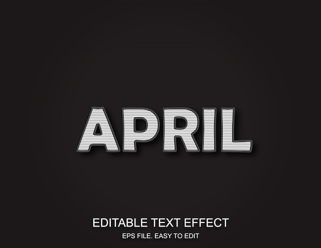 April retro text effect