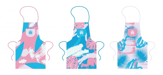 Apron , isolated kitchen uniform item template