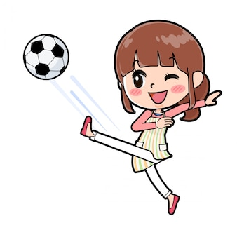 Apron mom soccer