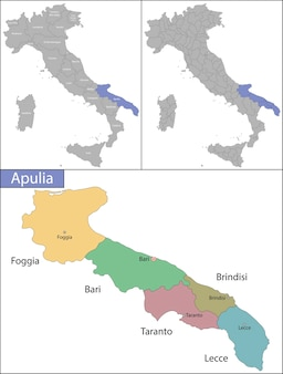 Apulia is a region of italy, located in the southern peninsular section of the country