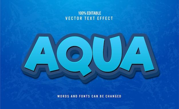 Редактируемый текстовый эффект aqua 3d