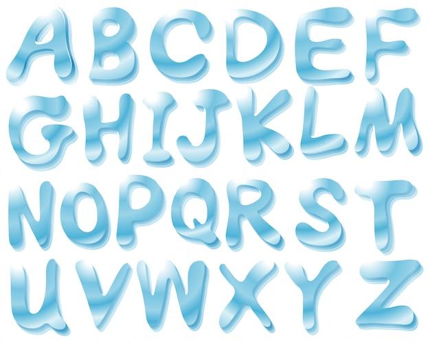 Aqua alphabet