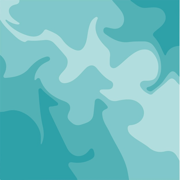 Aqua blue liquid marble texture ink painting abstract background pattern vector illustrations