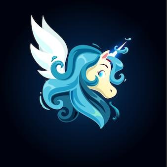 Aqua magic unicorn
