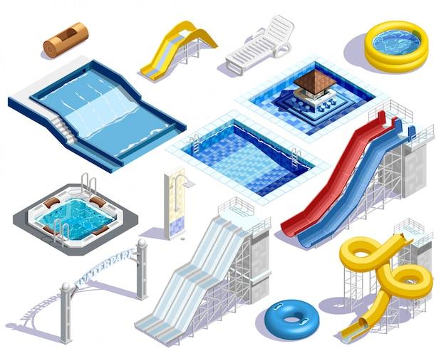 Aqua park elements set
