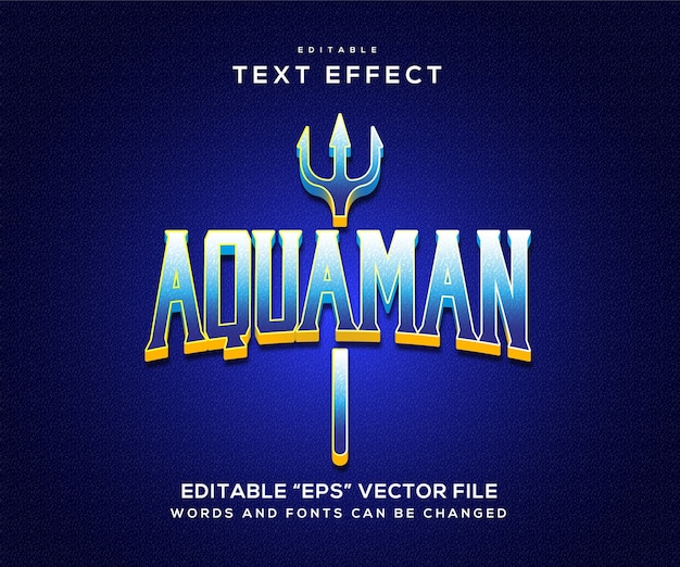 Aquaman 파란색 텍스트 효과