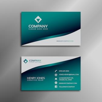 Aquamarine business card
