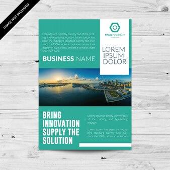 Aquamarine business flyer