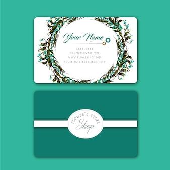 Aquamarine floral business card