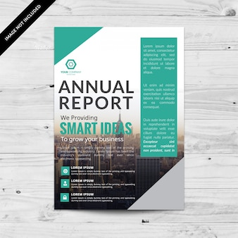Aquamarine and white business brochure