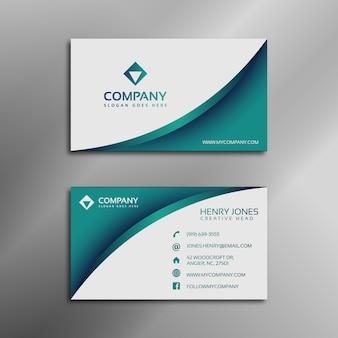 Aquamarine and white business card