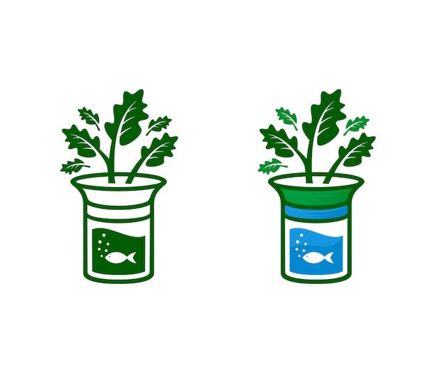 Aquaponic, symbol and icon aquaponic