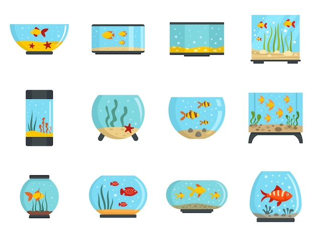 Aquarium icon set