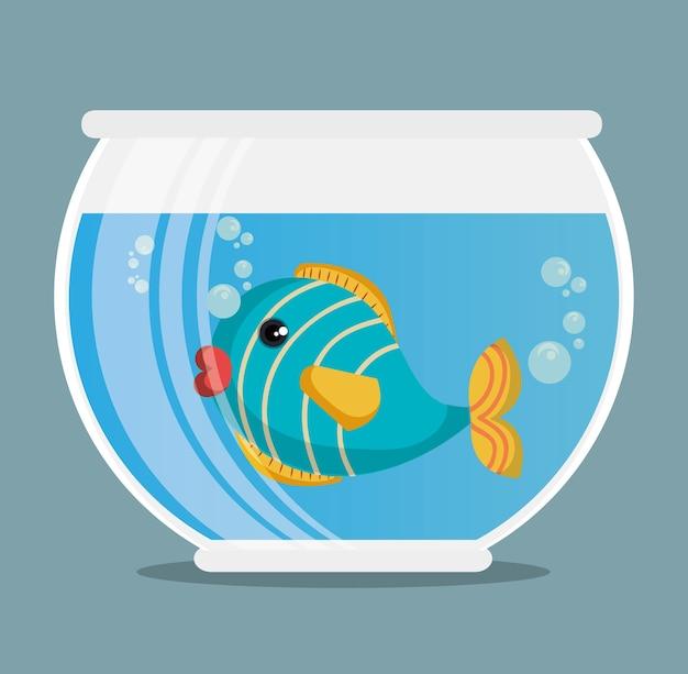 Значок зоомагазина аквариума