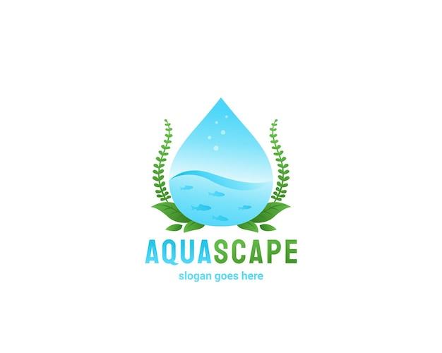 Aquascape 아쿠아 디자인 로고