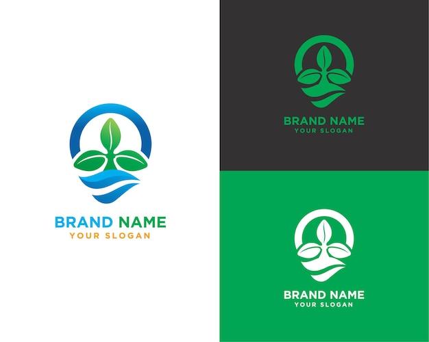수생식물 브랜드 로고