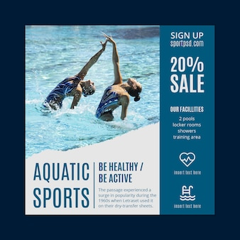Aquatic sports flyer template