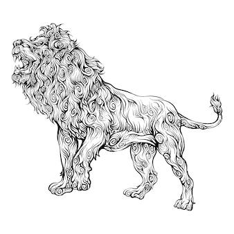 ライオンのar音を手に描く