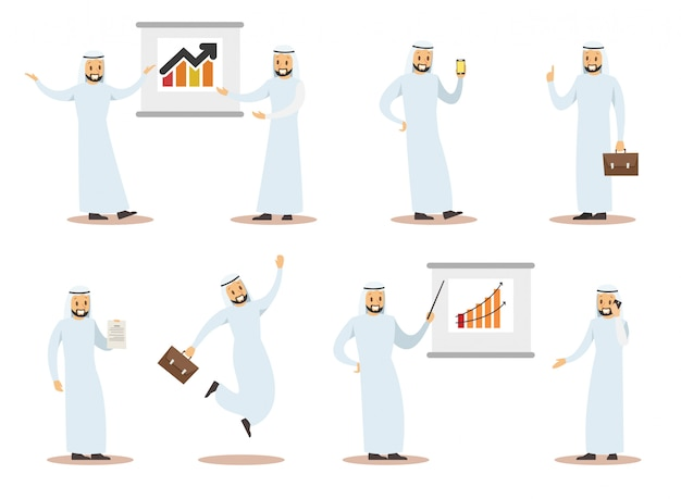 Arab business character design 8