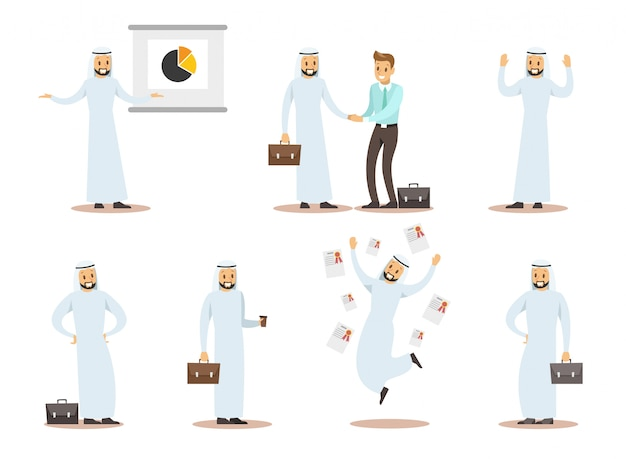 Arab business character design 9