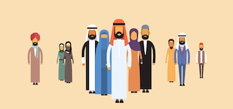 Arab Business People Group, Arabic Team