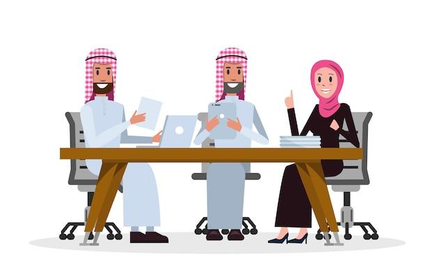 Arab business people in a meeting room