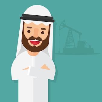 아랍 사업가 소유자 오일