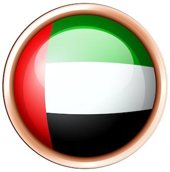 Arab emirates flag on round badge