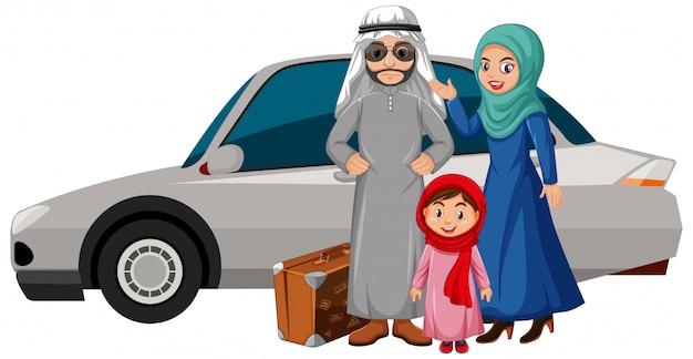 Arab family on holiday
