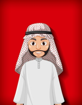 Arab man cartoon character