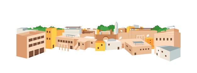 Плоский цветной объект арабская медина