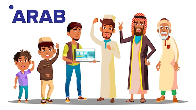 Arab, muslim male people