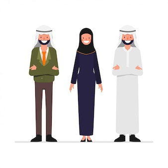 Arab people portrait character.
