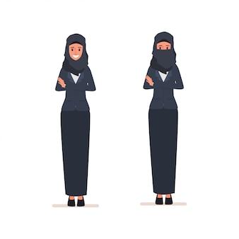 Arab women character or muslim arabian dress.