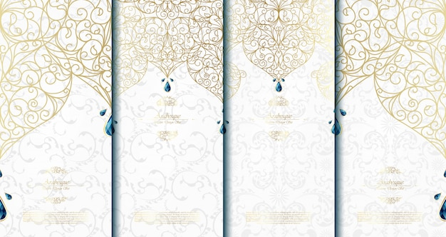 Arabesque abstract islamic template