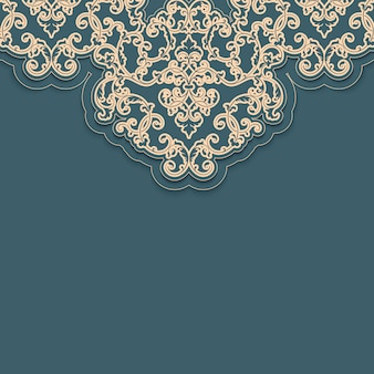 Arabesque decorative brocade