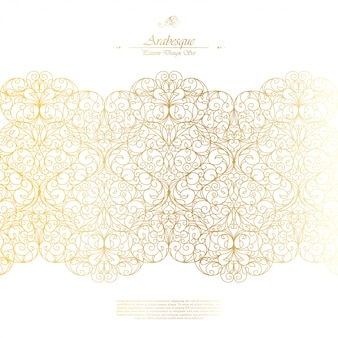 Arabesque eastern element classic white background vector