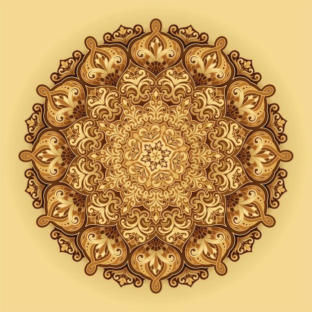 Arabesque floral background