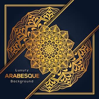 Arabesque luxury mandala background