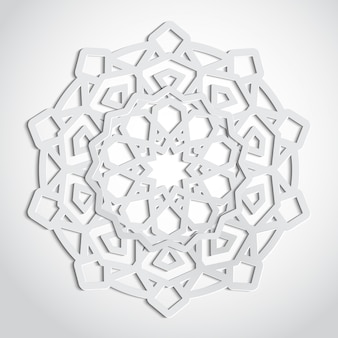 Arabesque ornament pattern in cutout style