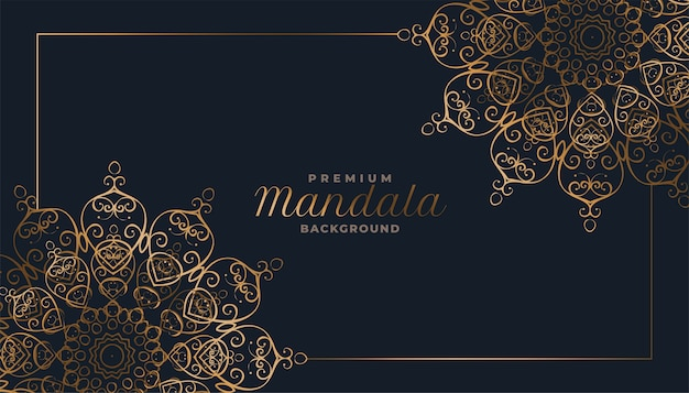 Arabesque style decorative mandala pattern background
