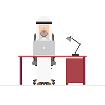 Arabian businessman working in the office