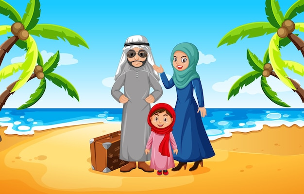 Famiglia araba in vacanza
